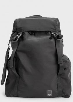 Черный рюкзак Emporio Armani на затяжках, фото