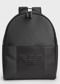 Черный рюкзак Emporio Armani с орлом, фото