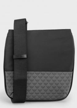 Мужская сумка-планшет Emporio Armani черного цвета, фото