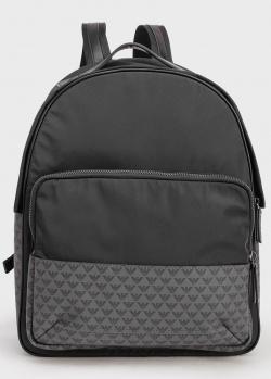 Черный рюкзак Emporio Armani с принтом бренда, фото