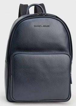 Синий мужской рюкзак Emporio Armani с логотипом, фото