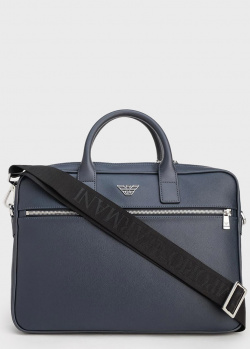 Синяя сумка для ноутбука Emporio Armani , фото