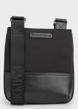Мужская текстильная сумка Emporio Armani со вставками из экокожи, фото