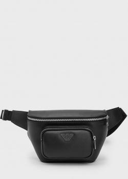 Мужская поясная сумка Emporio Armani черного цвета, фото