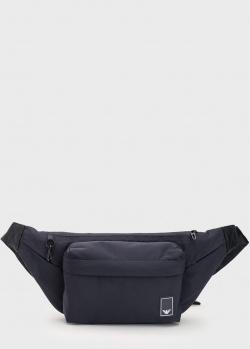 Поясная сумка Emporio Armani Travel Essentials синего цвета, фото