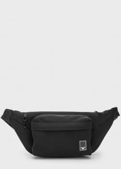 Поясная сумка Emporio Armani Travel Essentials черного цвета, фото