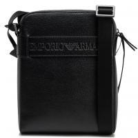 Сумка Emporio Armani из кожи черного цвета, фото