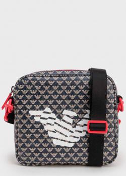 Мужская сумка Emporio Armani с принтом бренда и орлом, фото