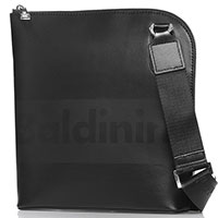 Мужская черная сумка Baldinini Kevin с логотипом, фото