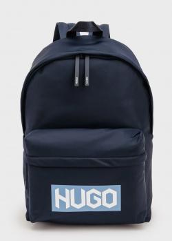 Синий рюкзак Hugo Boss Hugo с принтом на кармане, фото