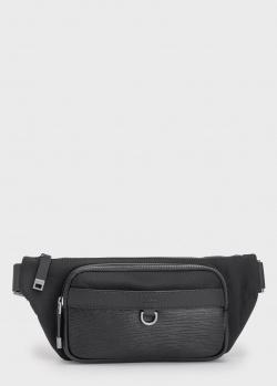 Поясная сумка Hugo Boss с вставкой из кожи, фото