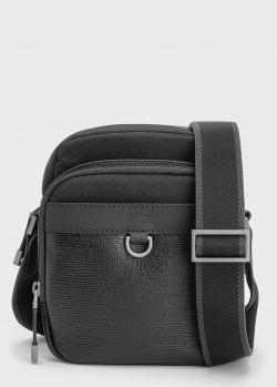 Мужская сумка Hugo Boss черного цвета, фото