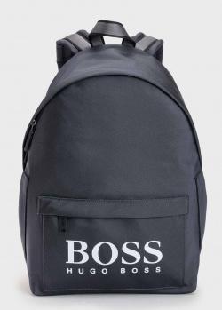 Темно-синий рюкзак Hugo Boss с накладным карманом, фото