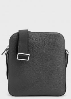 Черная сумка Hugo Boss из натуральной кожи, фото