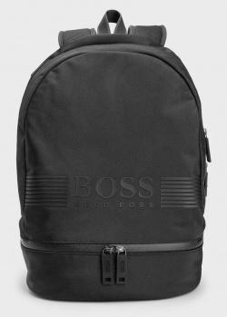 Мужской рюкзак Hugo Boss с брендовым принтом, фото