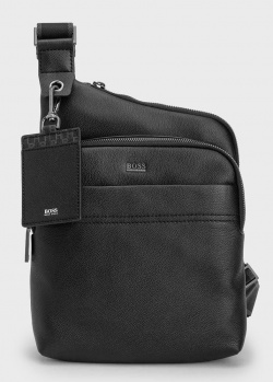 Черная сумка Hugo Boss через плечо, фото