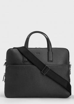 Мужской портфель Hugo Boss из зернистой кожи, фото