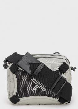 Серая сумка Kenzo с сетчатой вставкой, фото