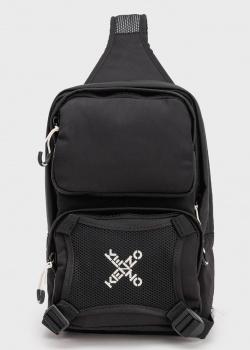 Черный монорюкзак Kenzo с накладными карманами, фото