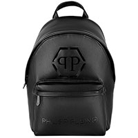 Черный рюкзак Philipp Plein с логотипом, фото