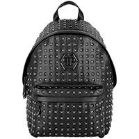 Черный рюкзак Philipp Plein с металлическим декором, фото
