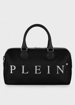 Черная сумка Philipp Plein с фирменным логотипом, фото
