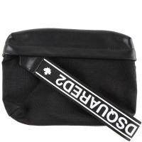 Мужская сумка Dsquared2 на пояс в черном цвете, фото