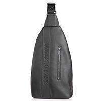Черный монорюкзак Emporio Armani с карманом на молнии, фото