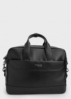Черный портфель Trussardi на молнии, фото