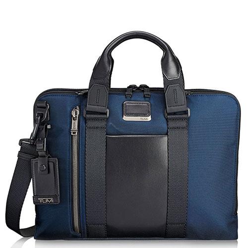Синяя сумка-портфель Tumi Alpha Bravo Aviano, фото