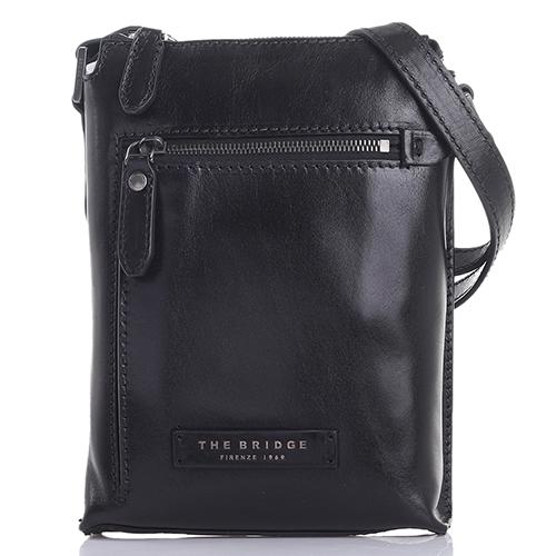 Черная сумка The Bridge Kallio прямоугольной формы, фото
