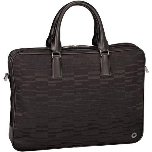 Сумка-портфель Montblanc 4810 Westside Black Mystery Canvas черная для документов, фото