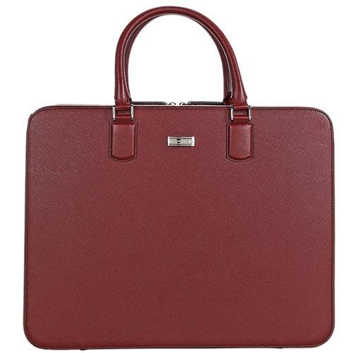 Бордовая кожаная сумка Montblanc Meisterstuck Selection с тиснением сафьяно, фото