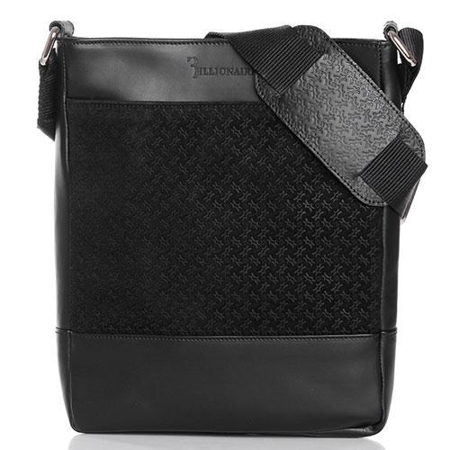Мужская сумка Billionaire из кожи черного цвета, фото