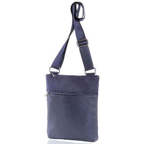 a9a8db67f ☆ Мужская сумка синего цвета Baldinini из зернистой кожи купить в ...