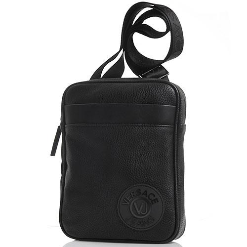 Черная сумка прямоугольной формы Versace Jeans, фото