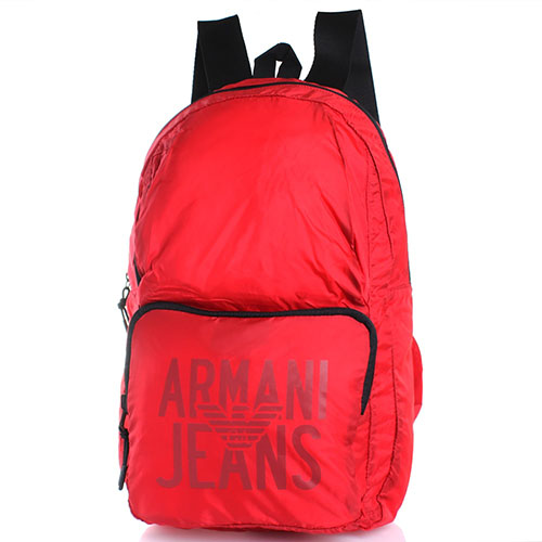 Текстильный спортивный рюкзак Armani Jeans красного цвета, фото