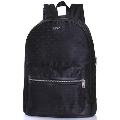 Черный рюкзак Armani Jeans из текстиля, фото