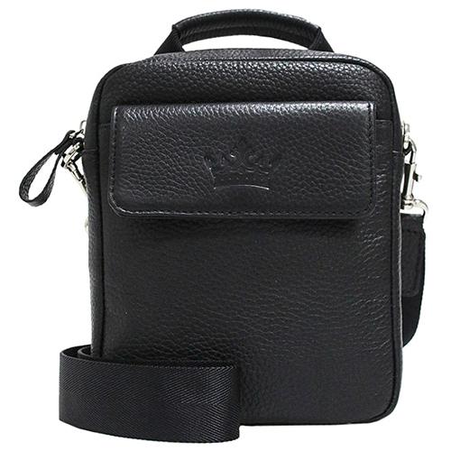 Черная сумка Amo Accessori Lorenzo из мягкой кожи, фото