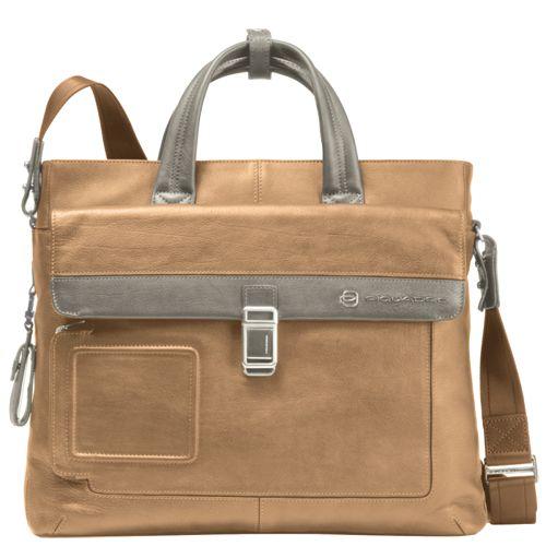 Двуручная сумка для ноутбука Piquadro Vibe бежевая, фото