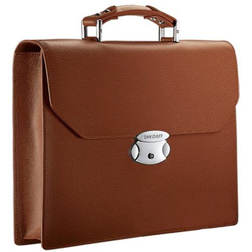 Портфель Davidoff коричневого цвета, фото