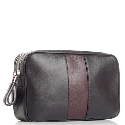Коричневая сумка Davidoff из матовой кожи, фото