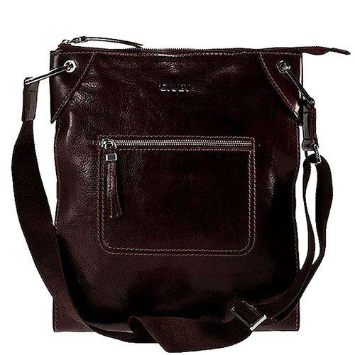 7dd185bb81ab ☆ Мужская наплечная сумка Giudi Leather из коричневой кожи купить в ...