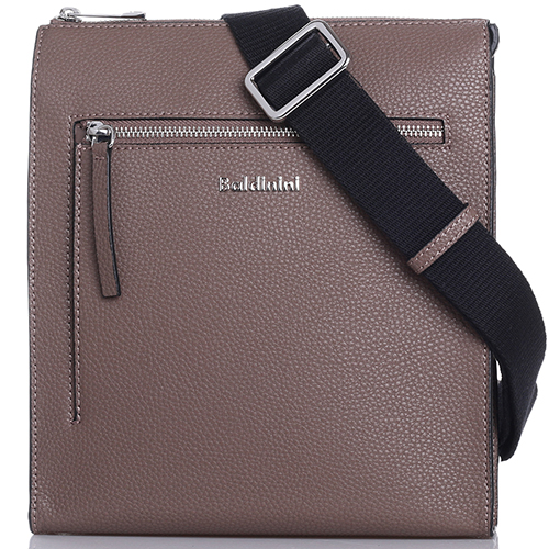c89862b80665 Мужская сумка Baldinini Brian из зернистой кожи серого цвета, фото