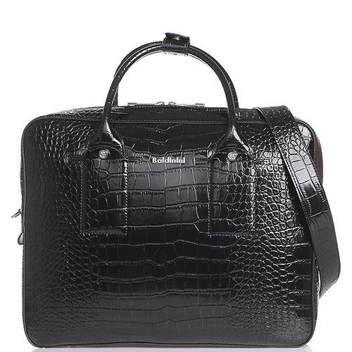 Черная сумка Baldinini Martin Croco с тиснением, фото