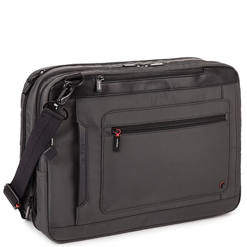 Серая сумка-рюкзак Hedgren Zeppelin Revised с функцией расширения, фото