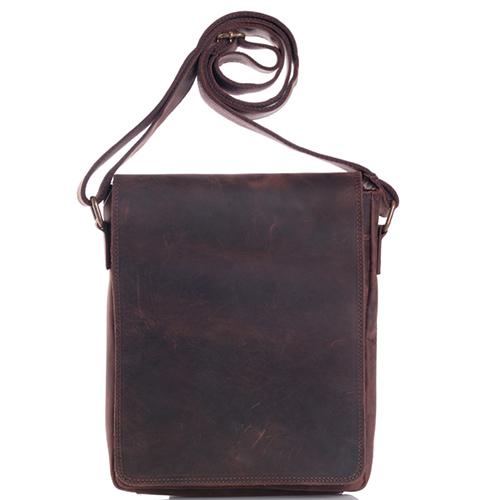 Мужская сумка Vera Pelle коричневого цвета, фото