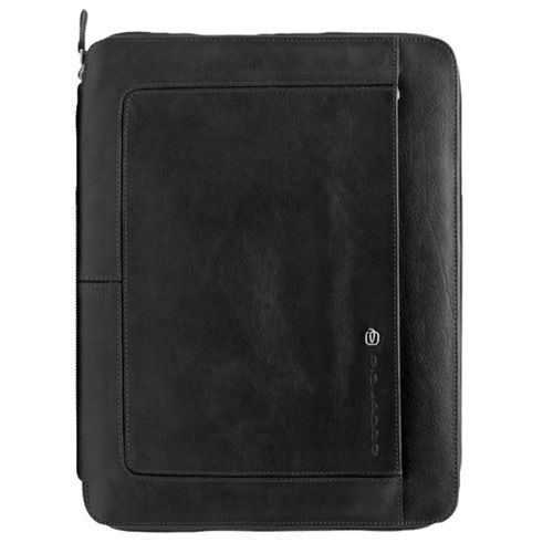 Папка Piquadro Vibe черная с блокнотом и отделениями для кредитных карт, фото
