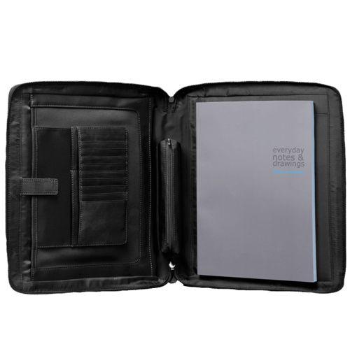 Папка Piquadro Vibe с блокнотом A4 с отделением для iPad с 2 ручками чёрная, фото
