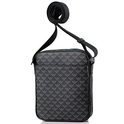 Мужская сумка Emporio Armani с брендовым принтом, фото
